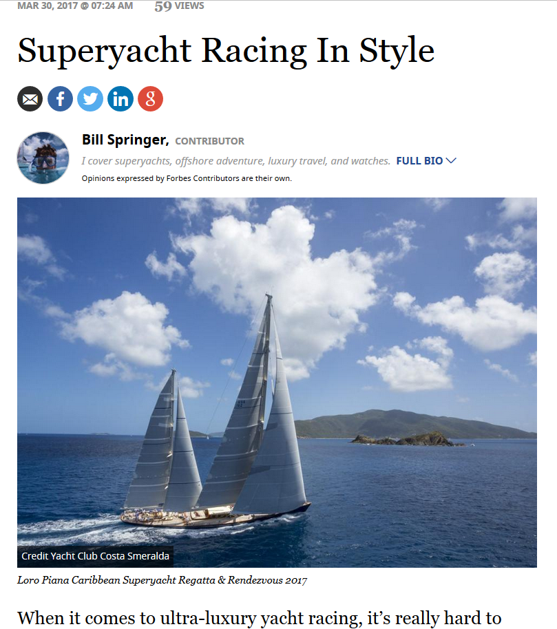 YCCS Virgin Gorda - YCCS regatta on Forbes.com